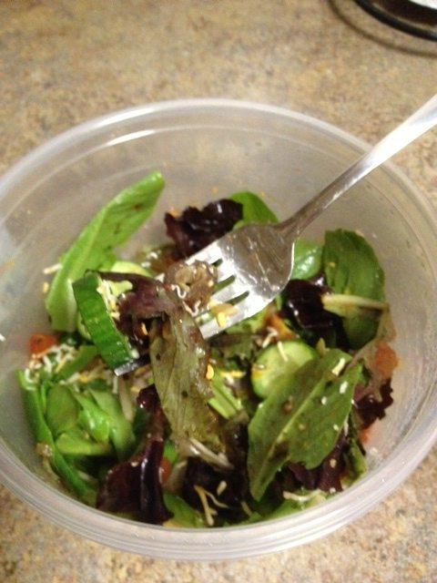 And wala a salad is born!