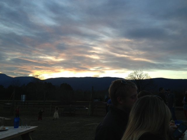 Pretty mountains and sunset
