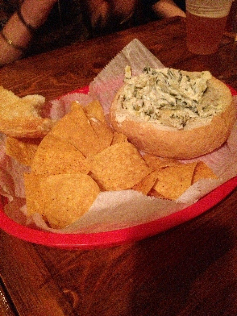 Friday night spinach and artichoke dip
