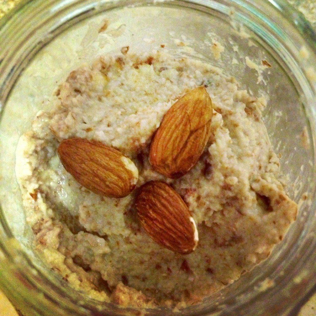 Homemade fruity almond butter