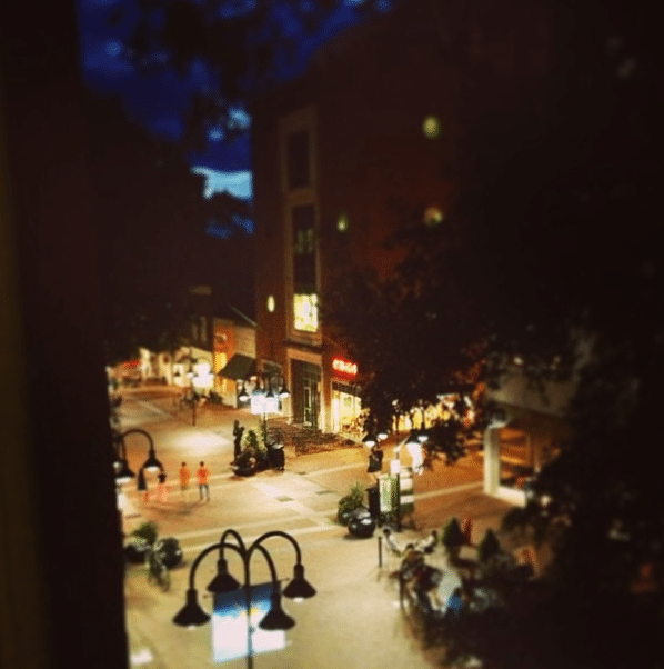 The Downtown Mall in Cville