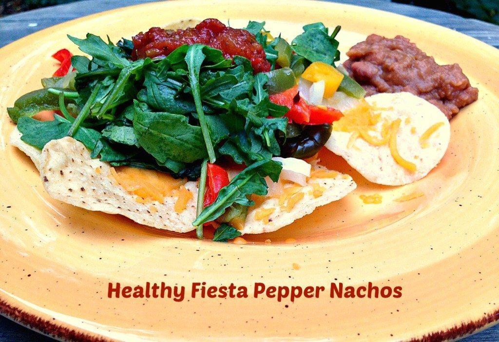 healthy fiesta pepper nachos