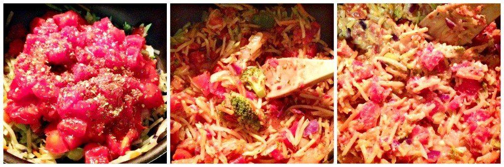 Broccoli slaw pasta