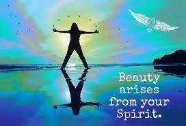 beauty arises from spirit