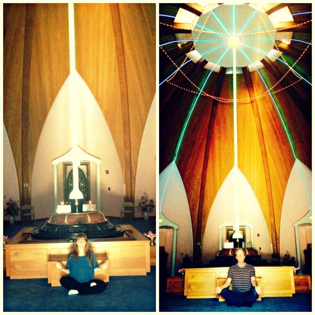 meditating at the lotus