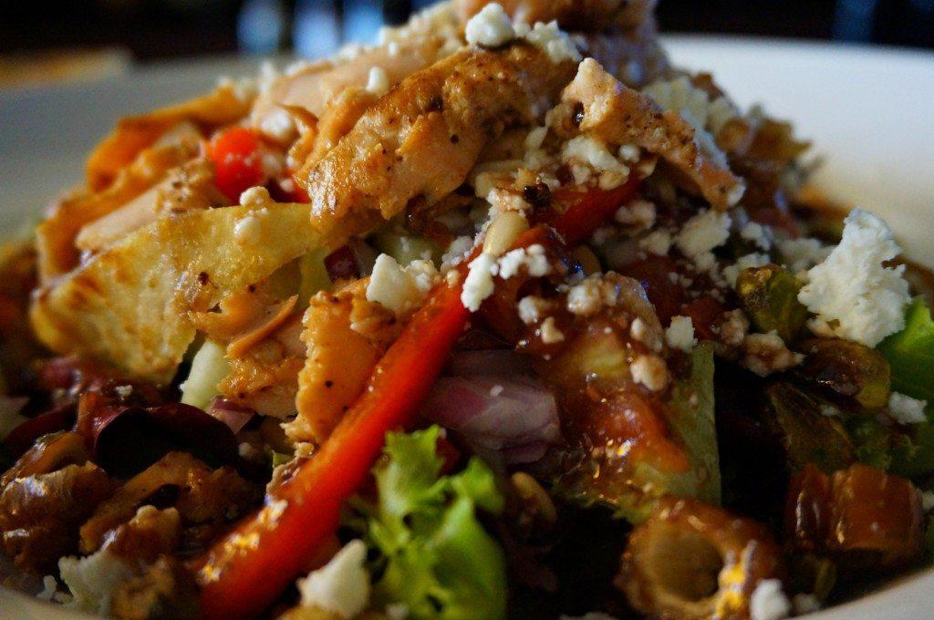 Basil salad ingredients