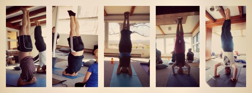 headstands at yogaville