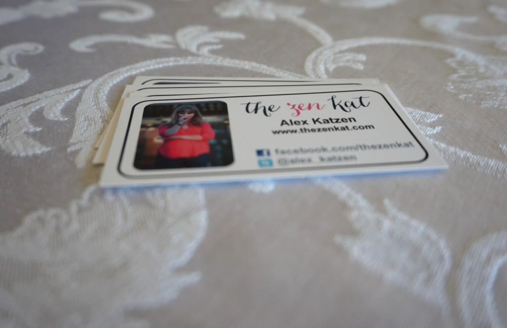 The Zen kat business cards