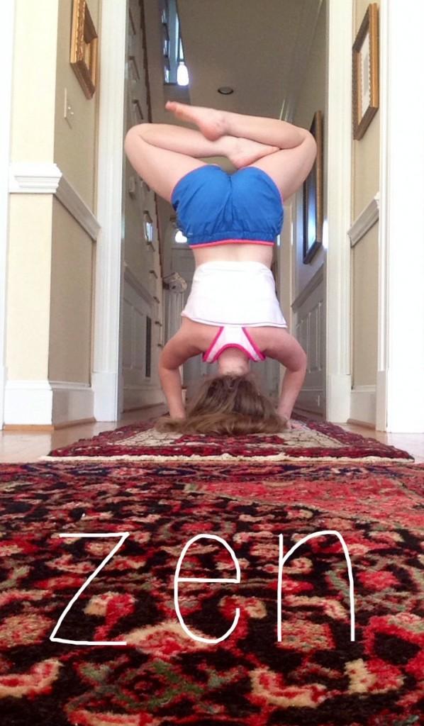 headstand zen