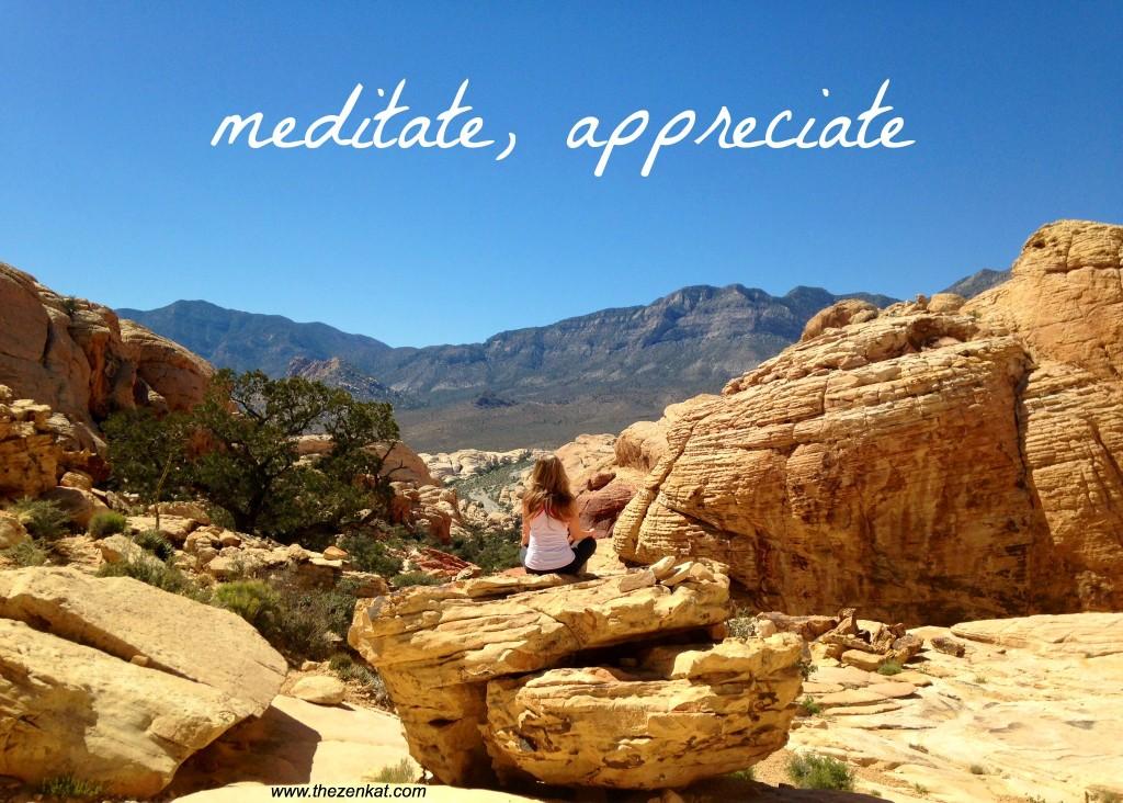 meditate appreciate