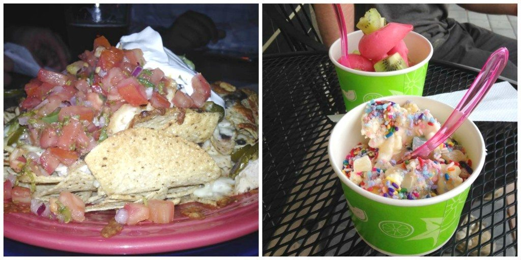 nachos and froyo